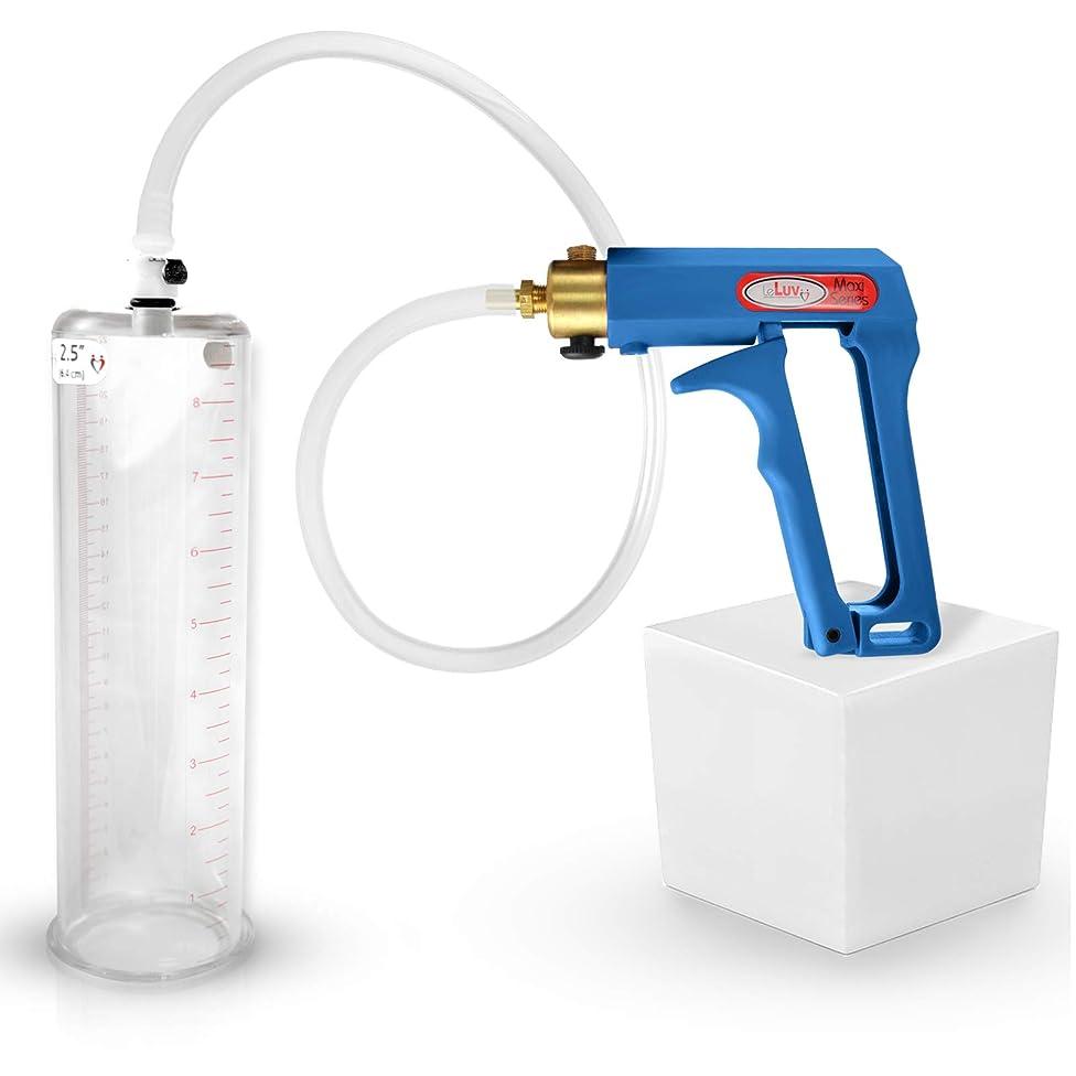 LeLuv Maxi Blue Men's Penis Pump 9 x 2.50 Inch Cylinder