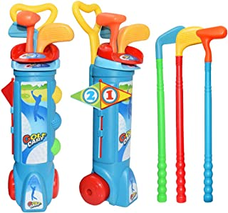 مجموعة ألعاب الغولف للأطفال من كوسير لعبة الجولف الإبداعية المرحة لعبة الجولف لعبة رياضية هدايا للداخل الداخلي والخارجي