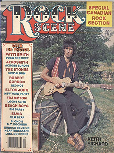 Rock scene Magazine February 1978 (Keith Richard on Cover)