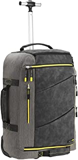 Cabin Max Manhattan 55x40x20 Hybrid Trolley Backpack Flight Approved Hand Luggage V2(Grey/Yellow)