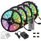 Tira LED 20 m, 600 ledes, RGB SMD 5050, autoadhesiva, cambio de color, con mando a distancia, para casa, fiesta, cocina [Clase energética A+++]