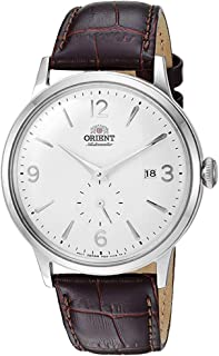 "Orient Men's""Bambino Small Seconds"" Japanese-Automatic Watch with Leather Strap, 21 mm"