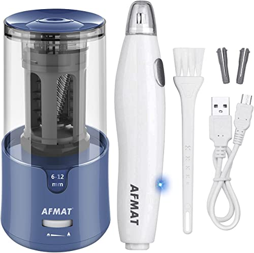 popular AFMAT Electric Pencil Sharpener for Colored Pencils, Auto Stop, Super wholesale Sharp & Fast, AFMAT Electric Eraser Kit,140 Eraser Refills, Rechargeable Electric new arrival Erasers for Drafting, Drawing, Crafts, Arts online