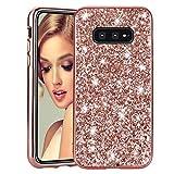Misstars Brillantini Glitter Cover per Galaxy S10 Lite 2019, Bling Strass Custodia Duro PC...