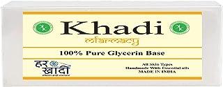 Khadi Mfarmacy Natural Herbal Bathing Handmade Clear Glycerin Pour & Melt Soap Base Khadi 500 gm Pack of 1