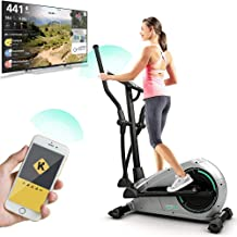 Bluefin Fitness CURV 2.0 Elliptical Cross Trainer | Home Gym | Exercise Step Machine | Air Walker | Compact | Kinomap | Live Video Streaming | Video Coaching & Training | Black & Grey Silver