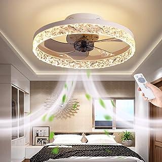 Ventilateur De Plafond LED Avec Lampe 66W Ultra-Silencieux Fan Lumière Télécommande Ventilateur Dimmable Lustre De Ventila...