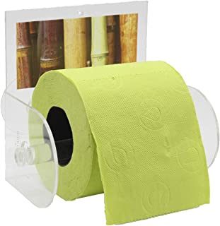 EVIDECO 6704384 Java Bathroom Toilet Tissue Paper One Roll Holder Suction Mounted