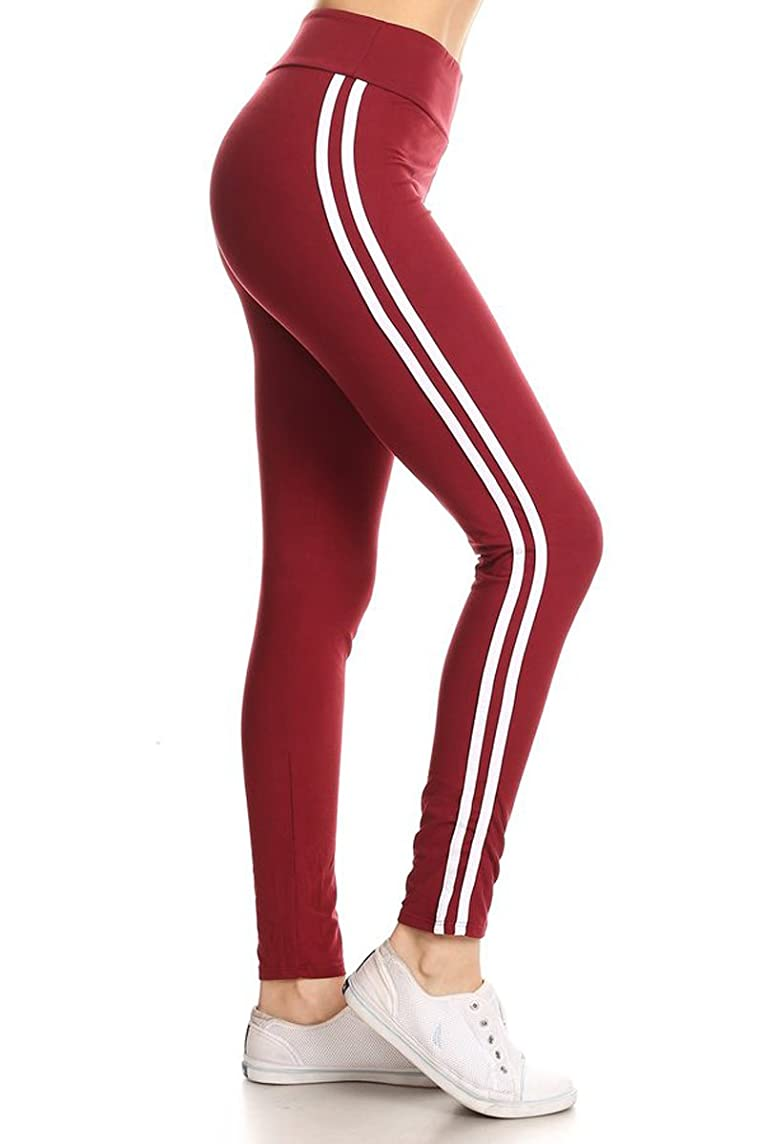 Leggings Depot High Waist Double Lined Solid Yoga Leggings
