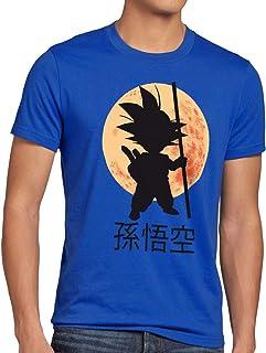 style3 Goku Dragon Moonlight Herren Anime T-Shirt Ball Mond