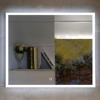 Badezimmerspiegel 60x60.Badezimmerspiegel Badspiegel Mit Led Beleuchtung Touch Schalter 60 X 60 Cm Amazon De Kuche Haushalt