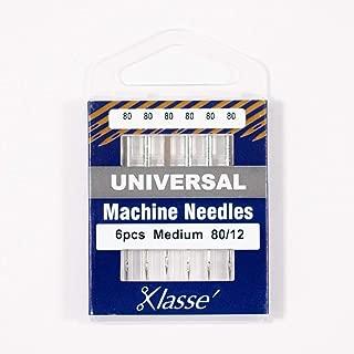 KLASSE Universal Sewing Machine Needles 80/12 6PCS Slight Ball Point Making IT Extremely Versatile