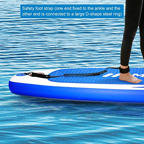 """Product Image 5: MaxKare Stand Up Paddle Board Inflatable SUP W Stand-up Paddle Board Accessories Backpack Paddle Leash Pump Non-Slip Deck ISUP Fishing Yoga Rigid Solid 10'× 30"""" ×6"""" Inches Thick Adult & Youth & Kid"""
