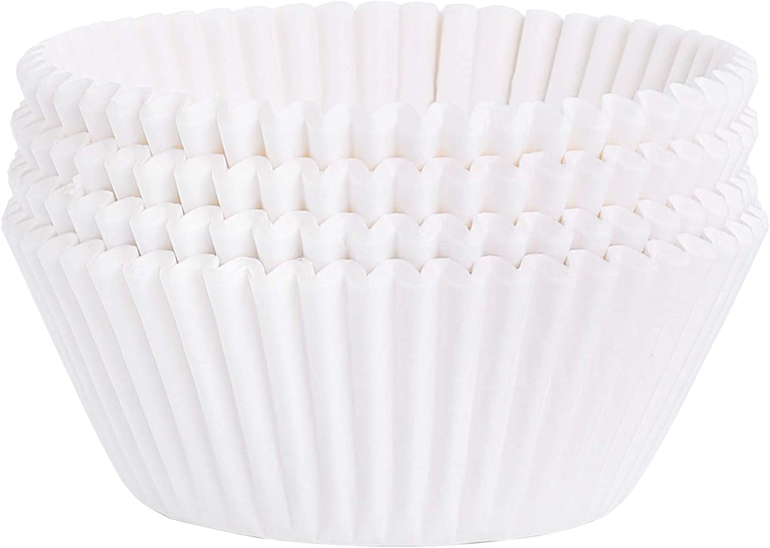 shopping URATOT Superlatite 100 Pieces White Cupcake Baking Wrappers Liners C