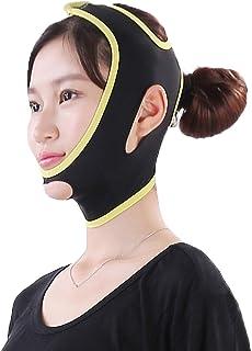 MagiDeal Women Lady Face Shaper Belt V Line Face Half Strap Slimmer Slim Belt Tool Black M L - Skin-friendly, stretchy, breathable and anti-bacteria. - L