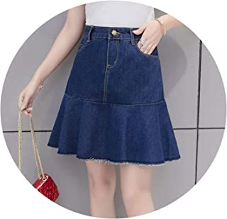 8ecdc4683 S-5XL Plus Size Skirt Casual Pockets Patchwork Simple Chic Young Mini 2019 Summer  Skirts