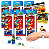 Lego Party Favors Pack Bundle with 12 Lego Stickers Sheets and 6 Separately Licensed Brick Build Sets