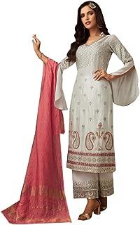Off White Net Trouser Pants Frill Sleeves Salwar Kameez Formal Party Indian Pakistani Punjabi Style Women Indian 8397 …