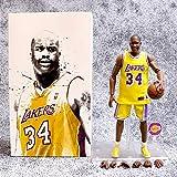 Serie Estrella De La NBA Figuras De Acción De O'neal Modelo Los Angeles Lakers No. 34 Estatua De Dib...