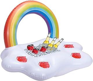 MissGood Inflable Arcoiris Nube Soporte para Bebidas Flotante Ensalada Barra De Frutas Piscina Fiesta Flotante Playa de Verano LatasJarras Botellas de Cerveza Juguetes de Natación