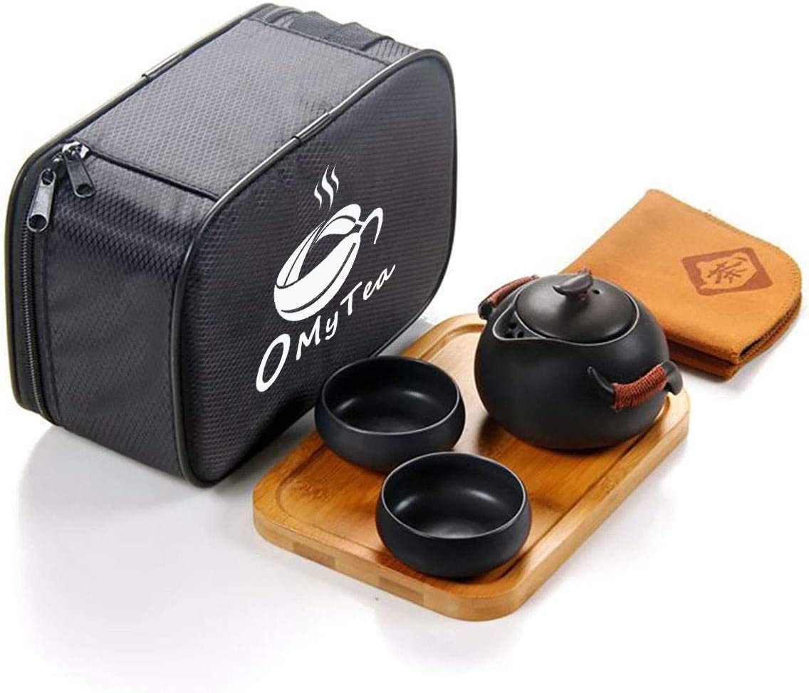 OMyTea Super-cheap Portable Travel Tea Set Japanese Chinese - Handmade 100% Bombing new work