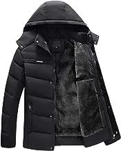 FONMA Men Coat Casual Warm Stand Collar Slim Winter Zip Outwear Jacket Top Blouse