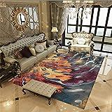WQ-BBB Alfombra De Salón De Estilo Moderno Alfombra Outlet Antideslizante Hermoso Estilo Abstracto Púrpura Gris Marrón Home Salon Dormitorio Cocina Oficina Tapetes Alfombra 160X200cm