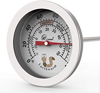Worm Bin Compost Soil Thermometer- Best for Live Worm Compost Bins Keep Microbes and Worms Happy for Gardening and Compost...