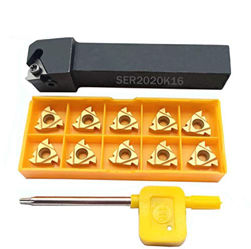 3Pcs SER 16*16 20*20 25*25 Threaded shank Tool holder+10PCS 16ER AG60 INSERT new