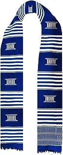 Blue and White Kente Cloth Stole/Sash. Graduation
