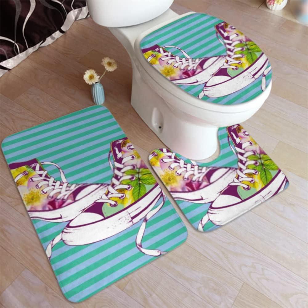 Bathroom Carpet Rugs Gumshoes San Jose Mall Price reduction Roses Non Handdrawn Slip