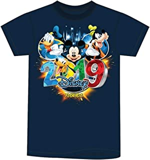 Disney Toddler 2019 Dated Pop Out Mickey Goofy Donald Pluto (FL Namedrop) Navy Blue Tee