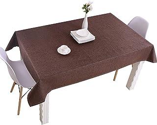 ZHLEYI Table à Linge étanche Tableau de Couleur Solide Nappe rectangulaire Nappe rectangulaire étanche et Durable et Facil...