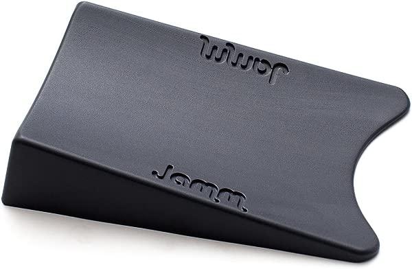 顶级 Jamm 门塞专利门挡设计在两个方向保持门优于其他门挡和装饰门楔优质非橡胶五金深灰色 1 Pk 尺寸 1