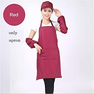 Life-Center-Store Unisex Aprons Pocket Chef Home Kitchen Restaurant Nail Coffee Shop Cookware Craft Baking Cooking,only Apron Wine red,fit for All
