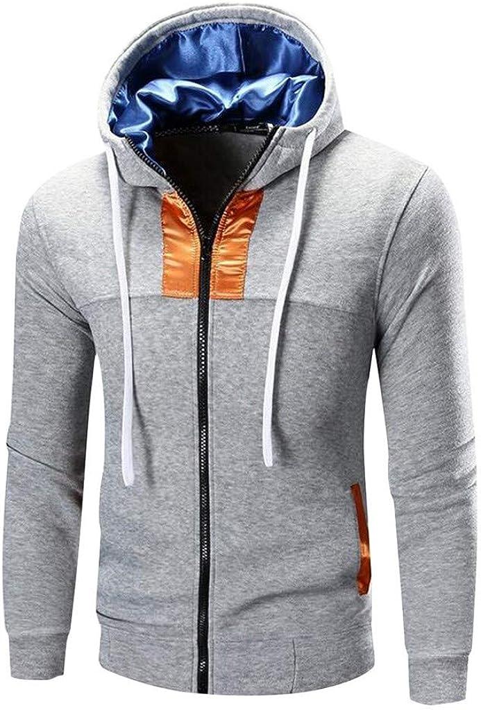 MODOQO Men's Zipper Pullover Long Sleeve Outdoor Sports Gyms Running Hoodies Sweatshirt