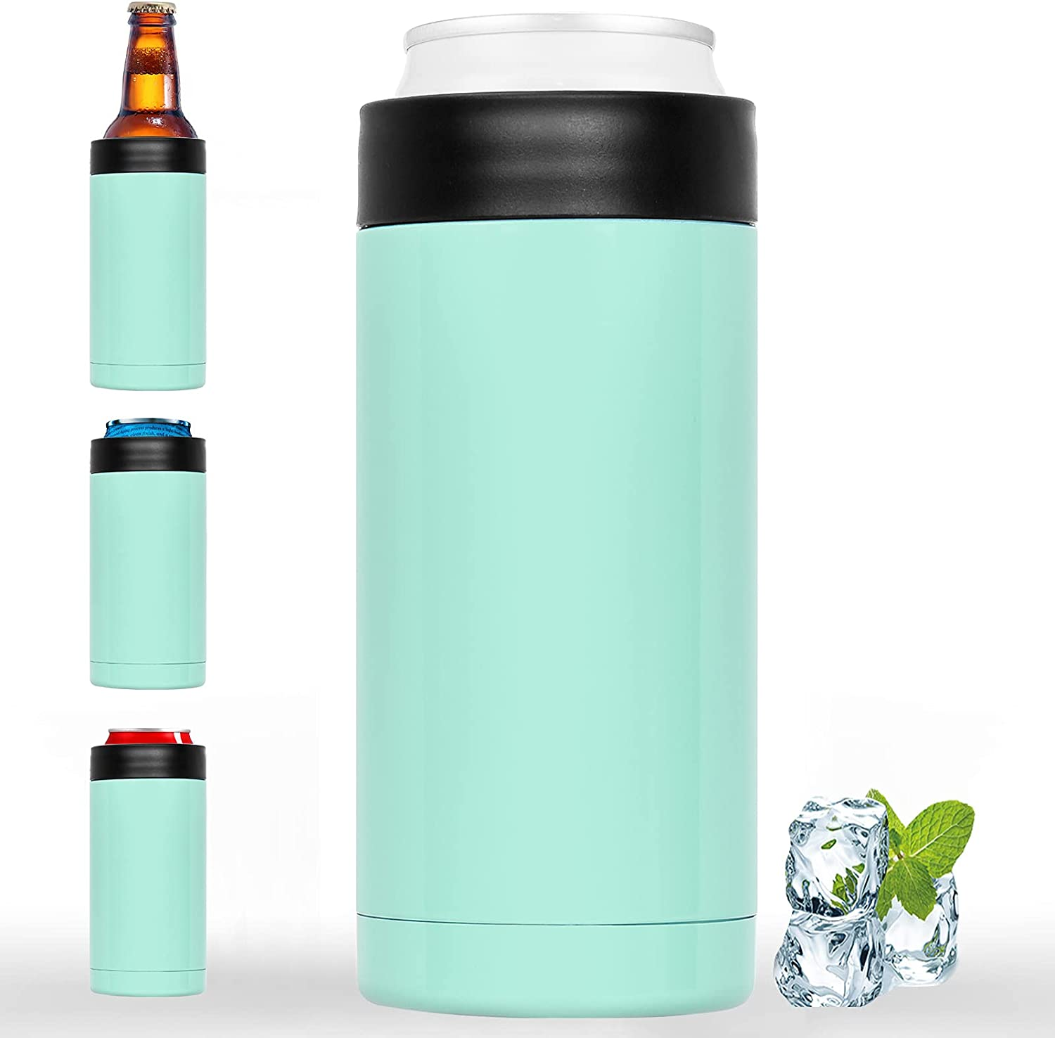 Double-walled shop OFFicial Stainless Steel Insulated Can Cooler Fits 16oz