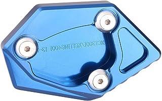 Motocicleta Aluminio Kickstand Side Pad lateral Soporte Pies Extensión Pad para Kymco KXCT 300i/XCITING