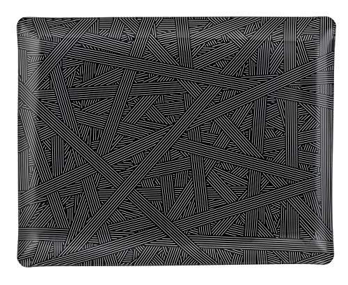 PLATEX 4046361184 Plateau Acrylique-ARTDECO, Cendre, 46x36cm
