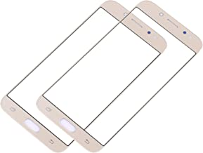 2Pack CENTAURUS Front Touch Screen Outer Glass Lens Panel Parts Replacement for Samsung Galaxy J7 Pro 2017 SM-J730 J730G J730GM J730DS J730F J730FM J730K (Gold - Not Cable)