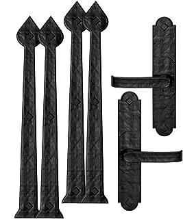 Creative Hardware 480-07 Magnetic Garage Door Handle/Hinge Decorative Accent Set Aspen (6 Piece)