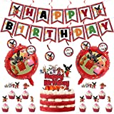 Juego de globos Bing Bunny LLMZ Globos de Aluminio Animales Conejo de Dibujos Animados al por Mayor de Bing Globos de la Hoja Fiesta de Cumpleaños Decoración con Globos,Decoración de Baby Shower