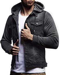 Autumn Winter Hooded Vintage Distressed Demin Hoodies Jacket Jean Coats Mens' Outwear Tops Coat Outwear