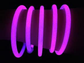 "Glow Sticks Bulk Wholesale Bracelets, 100 8"" Pink Glow Stick Glow Bracelets, Bright Color, Glow 8-12 Hrs, 100 Connectors Included, Glow Party Favors Supplies, Sturdy Packaging, GlowWithUs Brand"