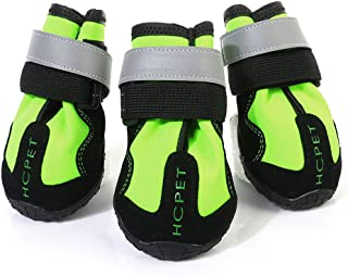 Flameer Dog Snow Boots Water Resistant Dog Shoes for Large Medium Dogs Pet Clothes 4 Pcs