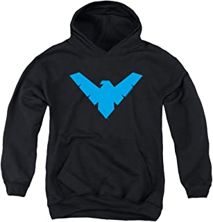 Popfunk Youth Nightwing Logo Kids Youth Pullover Hoodie & Stickers