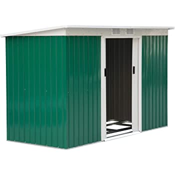 Gardiun KIS12767 - Caseta Metálica Cambridge (Verde) - 4,72 m² Ext.: Amazon.es: Jardín