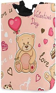 N\A Panier à Linge Valentine, boîte de Panier à Linge Ours Animal Grand Rangement étanche Facile à Transporter pour la bua...