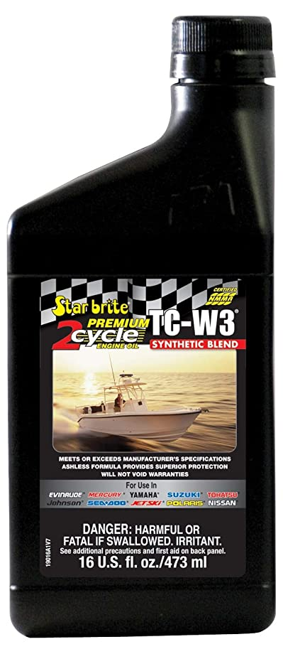 Star Brite Premium 2-Cycle Engine Oil TC-W3 - Synthetic Blend