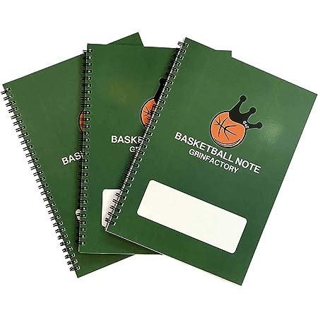 (グリンファクトリー) GRINFACTORY バスケットボールグッズ バスケノート (3冊セット) B5 リングノート 練習記録…